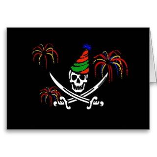 Pirate Jolly Roger Happy New Year Card