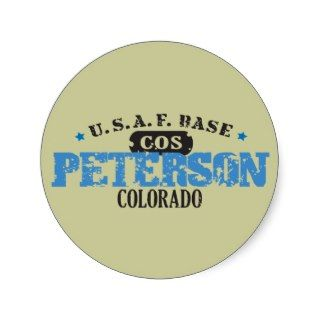 Air Force Base   Peterson, Colorado Sticker