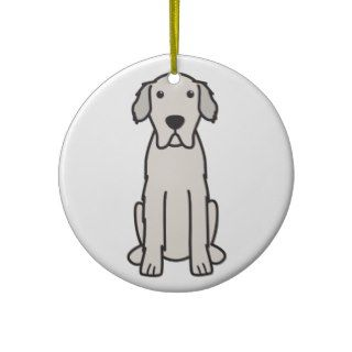 Great Pyrenees Dog Cartoon Christmas Tree Ornaments