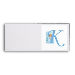Monogram Letter K Envelope Guardian Angel