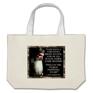 Phil Robertson Pro life Speech Canvas Bags