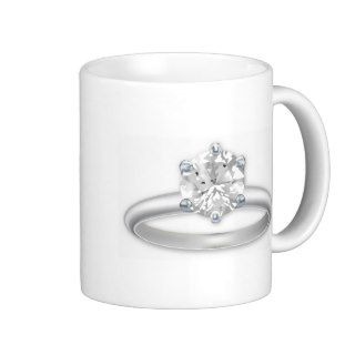 Diamond Ring Bling Clipart Graphic Coffee Mug