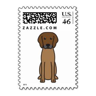 Rhodesian Ridgeback Dog Cartoon Stamp