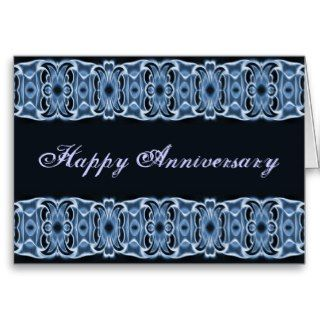 Happy Anniversary blue black Greeting Card