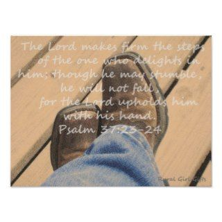 Cowgirl Boots with Scripture Verse Print