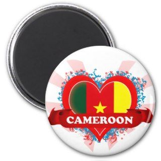 Vintage I Love Cameroon Fridge Magnet