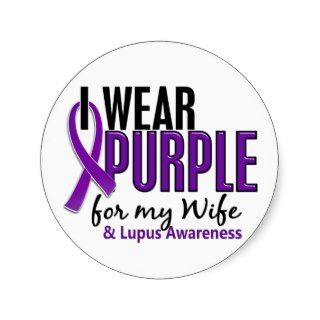 Wear Purple For My Wife 10 Lupus Stickers
