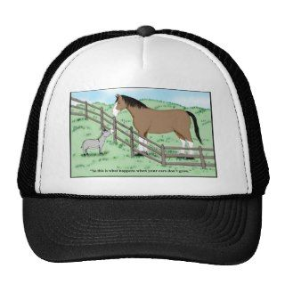 Donkey and Clydesdale Trucker Hats