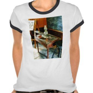 Teachers Desk with Hurricane Lamp T shirt