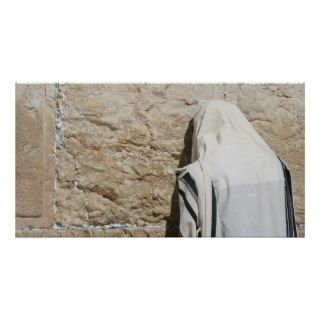 Man Praying at the Western Wall Print
