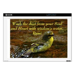 Rumi Wash the dust my soul Skin For Laptop