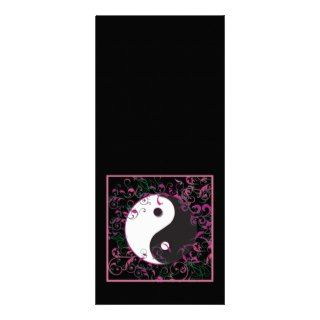 Yin & Yang Floral Design Full Color Rack Card