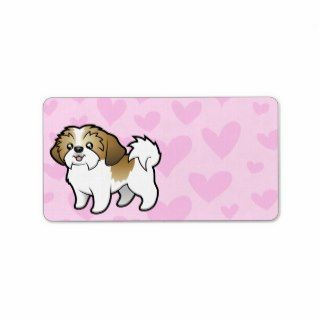 Shih Tzu Love (puppy cut) Personalized Address Label