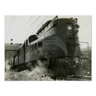 Pennsylvania Railroad Locomotive GG 1 #4800 Poster