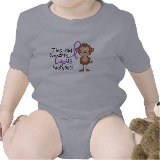 This Kid Supports Lupus Awareness Baby Bodysuits