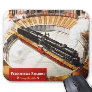 Pennsylvania Railroad Steam Turbine Mousepad