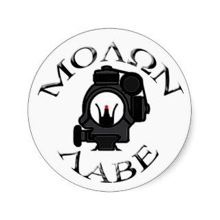 co witness sights/molon labe sticker