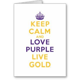 Keep Calm and Love Purple Live Gold Card