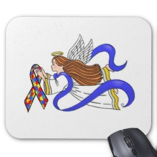Autism Awareness Angel Mouse Pads