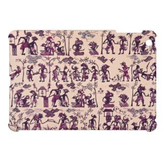 Vintage Javanese Indonesia Batik Wayang Kulit Cover For The iPad Mini