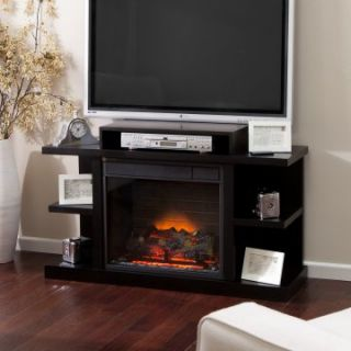 Salem Media Center 23 inch LED Electric Fireplace   Black   Electric