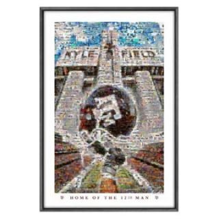 Sports Coverage Texas A&M Kyle Field Mosaic   Clocks & Wall Art at