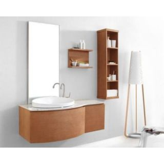 Virtu USA Isabelle 48 in. Single Sink Bathroom Vanity Set   Chestnut