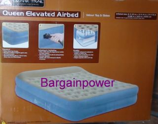 New Ozark Trail Queen Elevated Airbed Air Mattress Bed