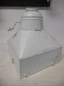 Antique Hoosier Cabinet Tin Metal Flour Sifter Funnel Bin w Lid