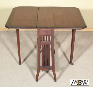 Antique Walnut Gateleg Sutherland Side End Table