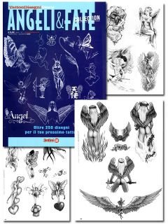 Tattoo Supplies Flash Angels Fairies Art Drawings Book