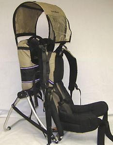 This recall involves Gold Inc.'s Eddie Bauer fabric infant carriers. They are worn by the parent or caregiver with the baby strapped into the front. The recalled carriers are black with
