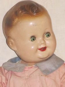 """11"""" Vintage Freundlich Composition Baby Sandy Character Doll Original Clothing"""