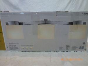 Hampton Bay 467931 Bathroom Vanity Light Fixture Brushed Nickel White Etched GLA