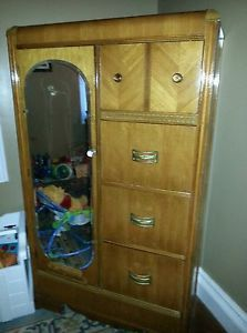 Antique Bassett Waterfall Bedroom Furniture