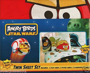 Angry Birds Star Wars Twin Sheet Set Bedding