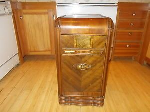 Beautiful 30`s 40`s Antique Art Deco Waterfall Bedroom Furniture Nightstand