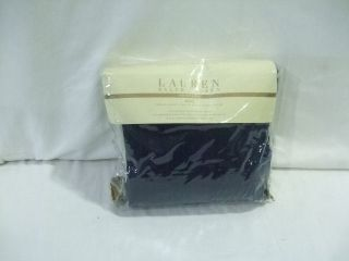 Ralph Lauren Huntley 450t Navy Blue Full Queen Duvet Cover