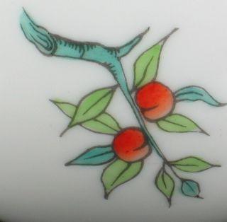 """Vintage Herend Orange Red Berries Green Leaves Bud Vase 6"""""""