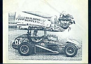 Vintage Ace Building Supply Corp Sprint Car Auto Racing Print EX SKU 27710