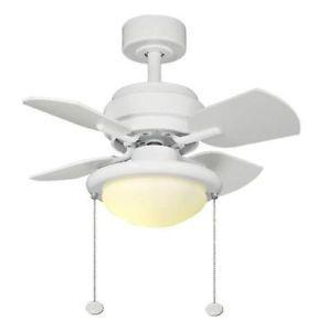 Hampton Bay Metarie 24 inch Ceiling Fan with Light Kit White