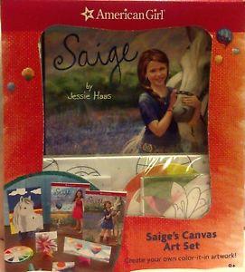2013 American Girl Saige's Canvas Art Set