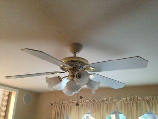 Hampton Bay Windward 54 In White Energy Star Ceiling Fan