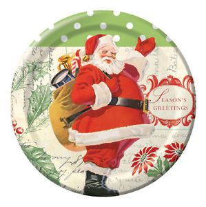 "Letters to Santa Holiday Themed Pack of 8 9"" Paper Lunch Dinner Party Plates"