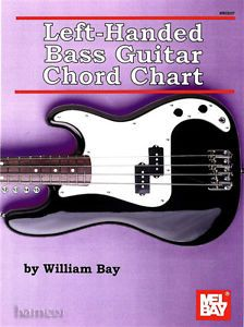 Left Handed Bass Guitar Chord Chart by William Bay Fingerboard Diagram Mel Bay