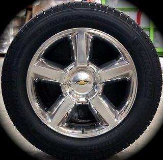 "New Chevy Silverado Tahoe Suburban Avalanche LTZ 20"" Wheels Rims Michelin Tires"