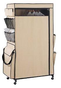Neu Home Tetron Wardrobe Center Wheels Portable Closet Storage Organizer