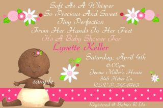 African American Baby Shower Invitations Personalized
