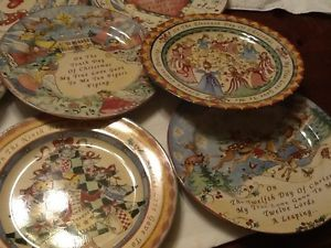 222 Fifth Twelve Days of Christmas Plates Set 12 Assorted ... & Domestications 12 Days of Christmas Plates Set of 12 China Dishes