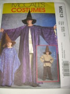 McCalls Pattern 5213 Boys Wizard Hobbit Costume Pattern 3 8 Robe Hat Tunic Belt